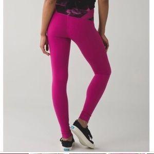 Lululemon high waisted leggings in pink
